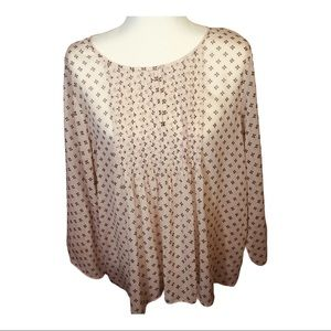 Old Navy, Chiffon top with shirring, scoop neck